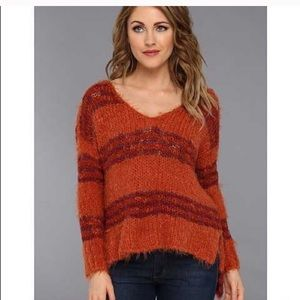 Free People Striped Linus Sweater